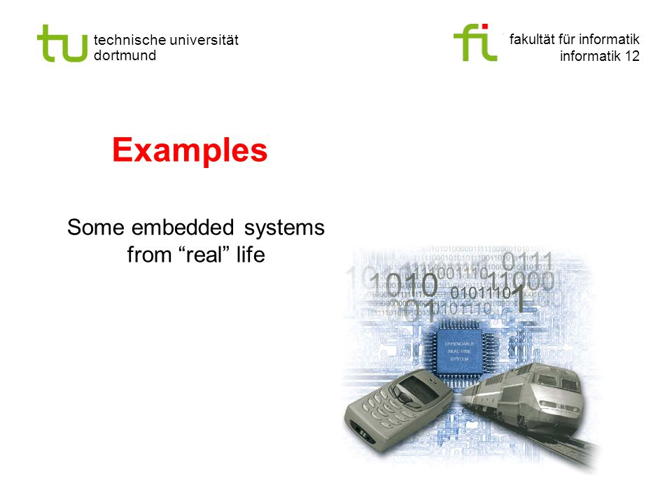 Some embedded systems from real life