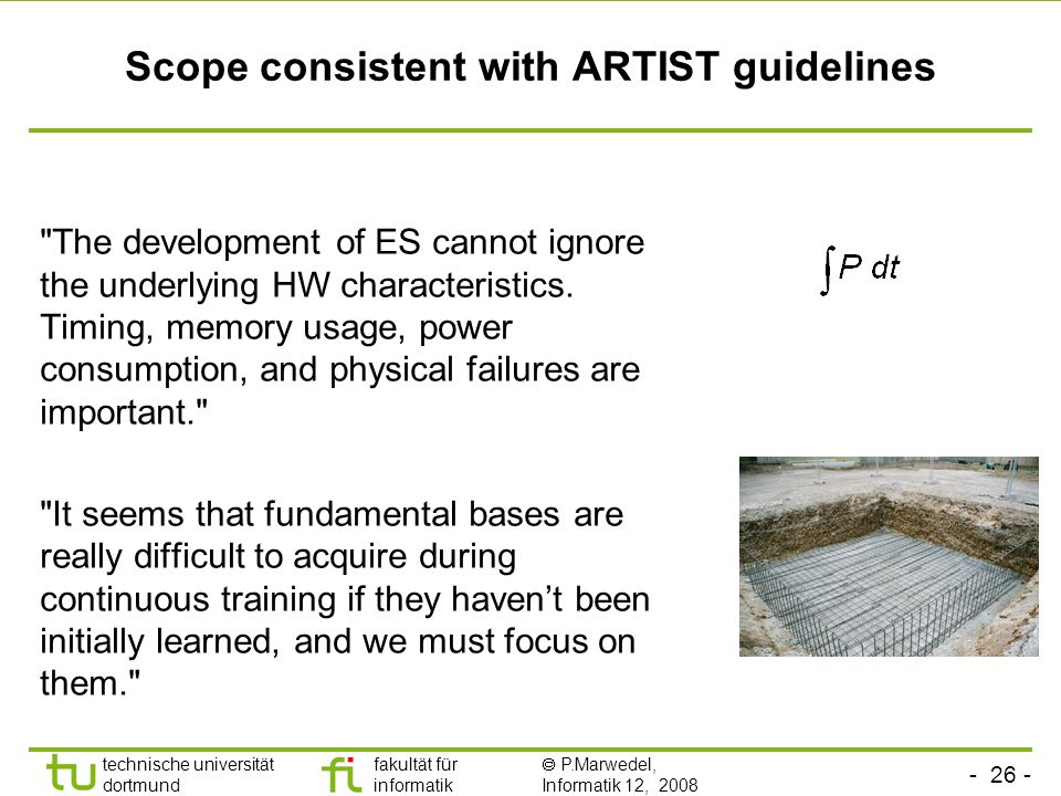 Scope consistent with ARTIST guidelines