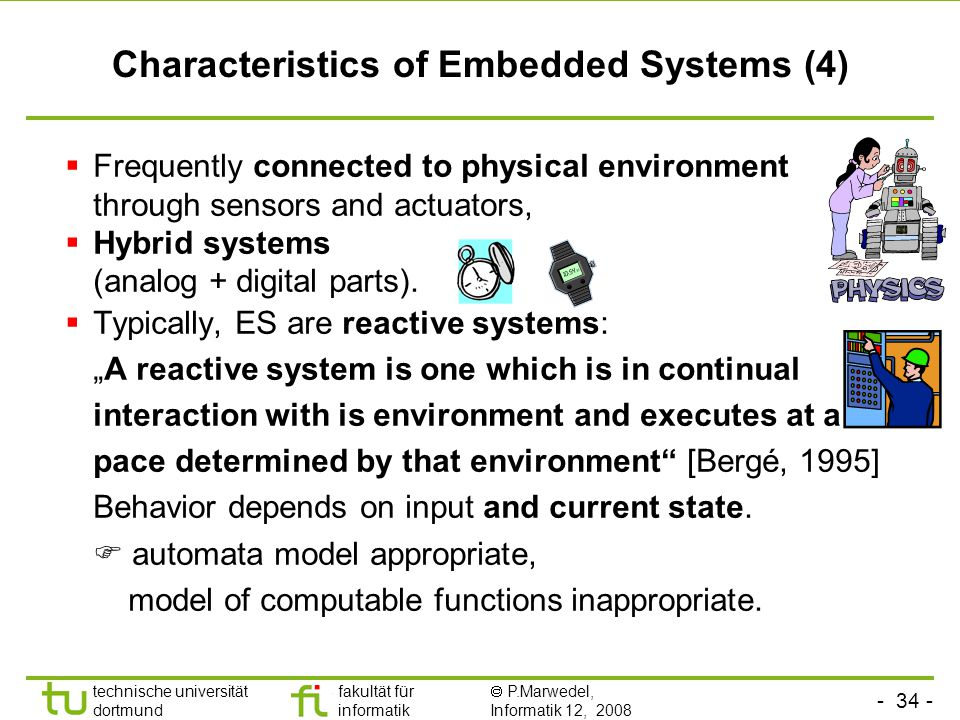Characteristics of Embedded Systems (4)