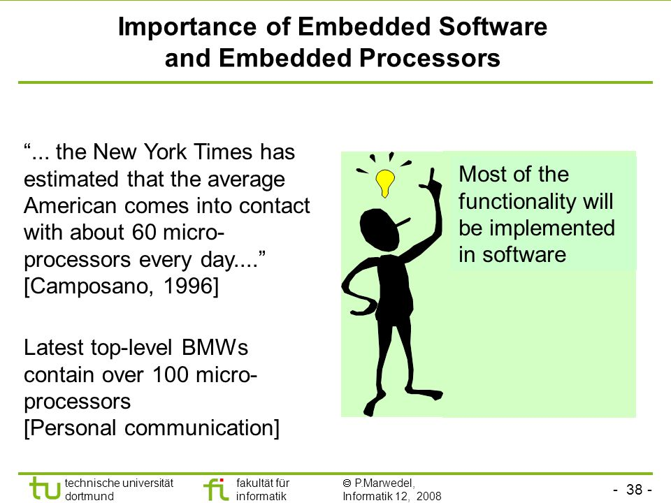 Importance of Embedded Software and Embedded Processors