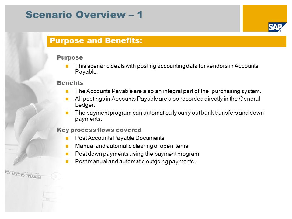 accounts payable scenario in business process The accounts payable process and reports (to the state) the entity's business with historically underutilized businesses (hub) review of accounts payable and procurement author: hdesk subject: fy12 audit keywords: 20130202.
