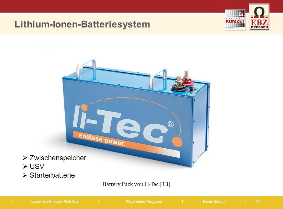 Lithium-Ionen-Batteriesystem