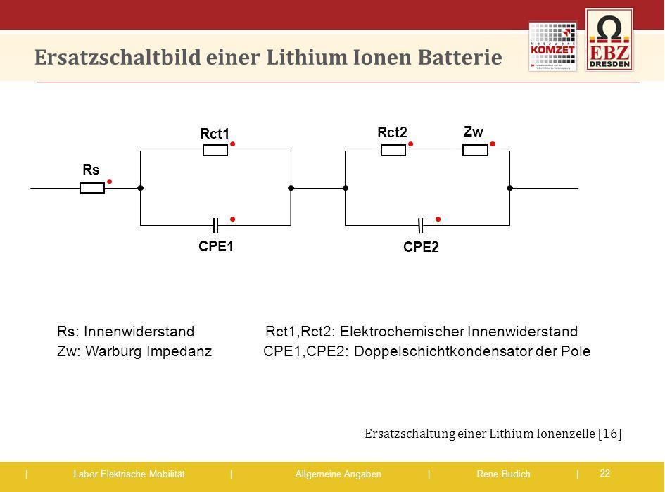 Ersatzschaltbild einer Lithium Ionen Batterie