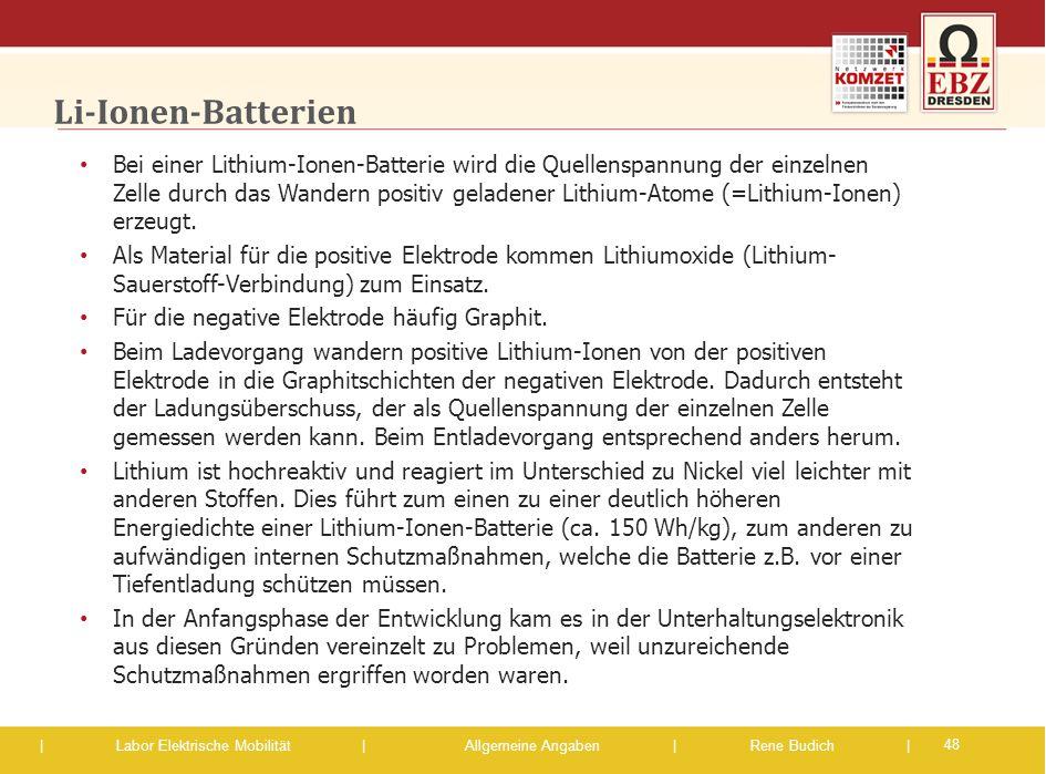 Li-Ionen-Batterien