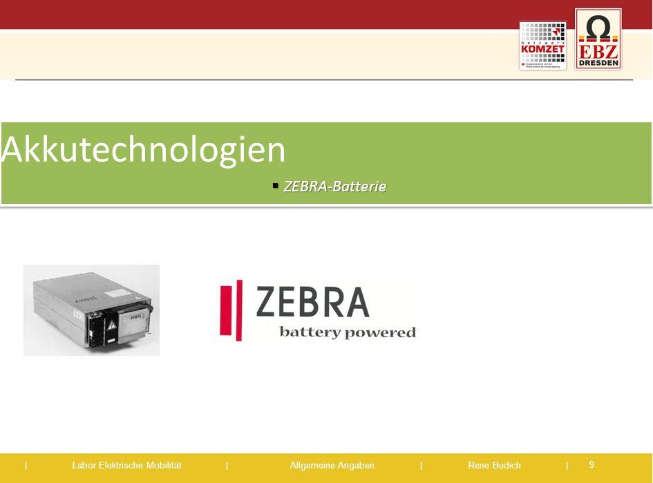 Akkutechnologien ZEBRA-Batterie