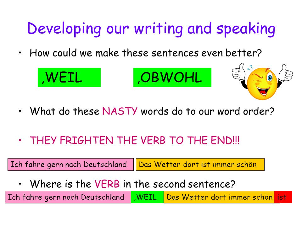 Developing our writing and speaking