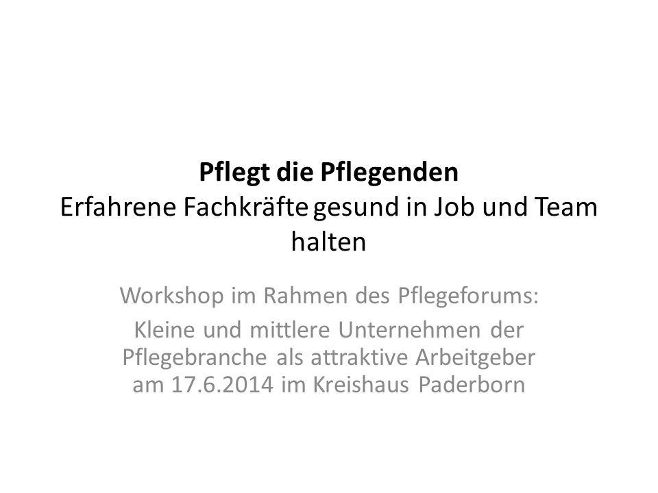 Workshop im Rahmen des Pflegeforums: