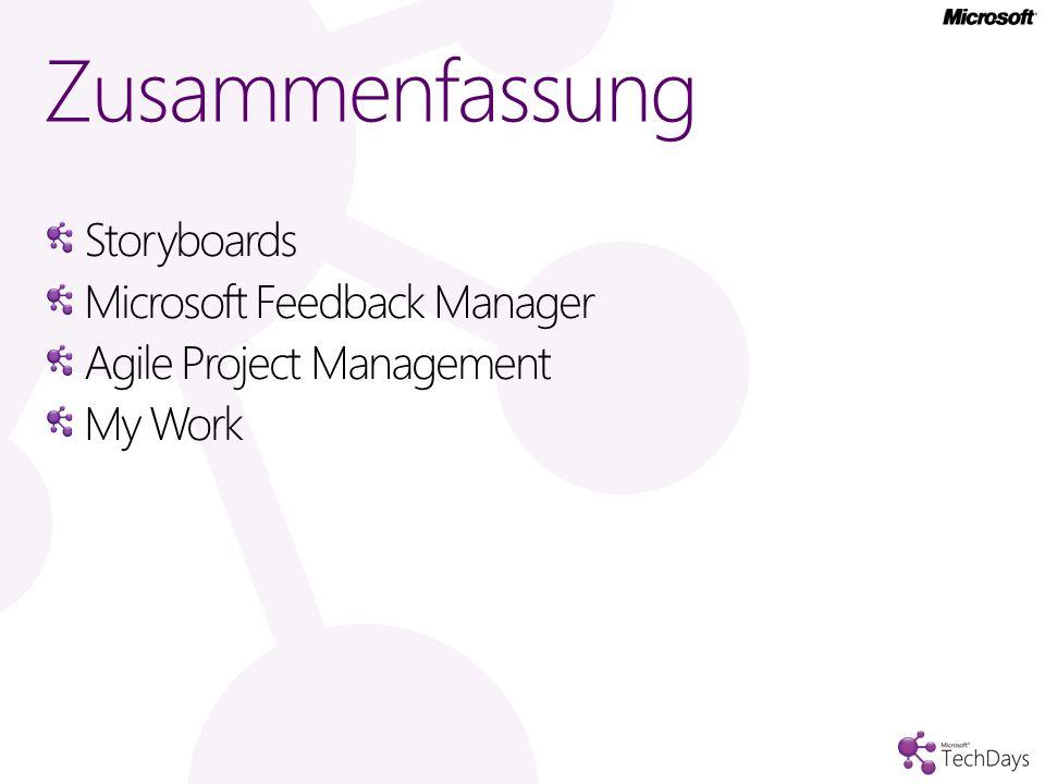 Zusammenfassung Storyboards Microsoft Feedback Manager