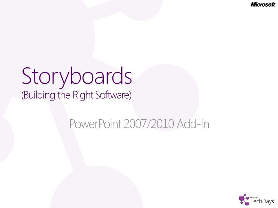 Storyboards (Building the Right Software)