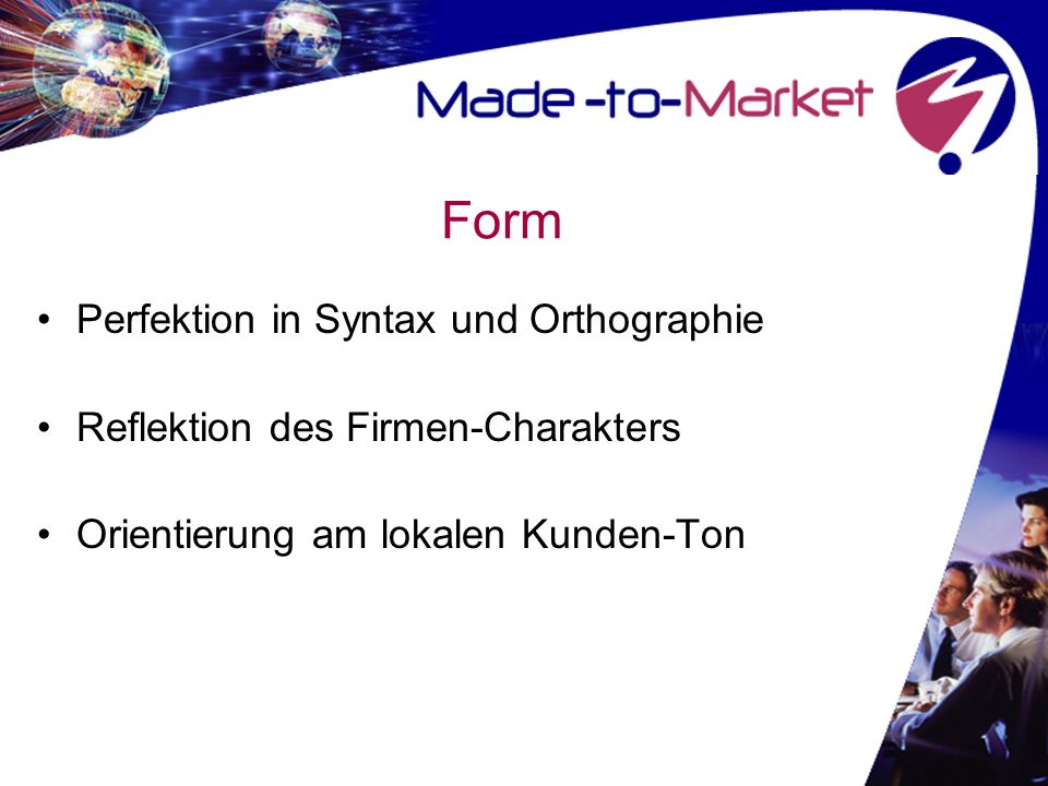Form Perfektion in Syntax und Orthographie