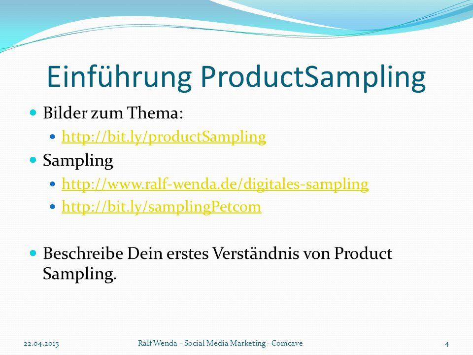 Einführung ProductSampling