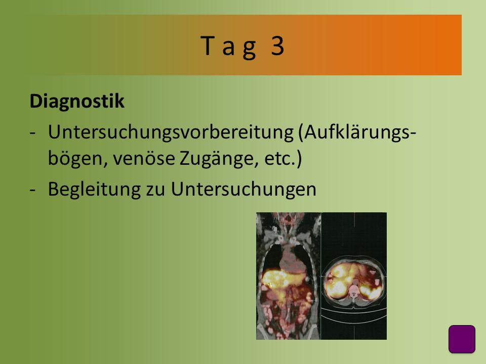 T a g 3 Diagnostik.