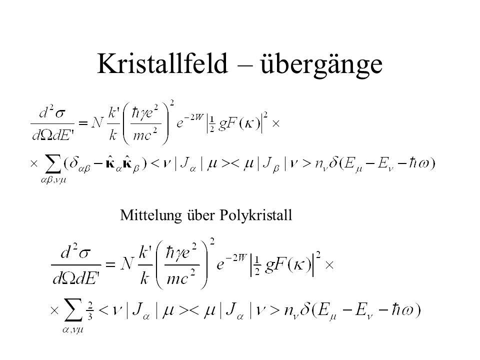 Kristallfeld – übergänge