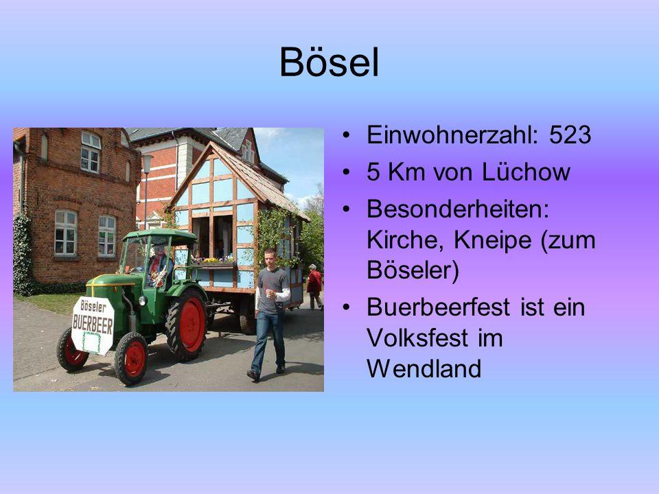 Bösel Einwohnerzahl: 523 5 Km von Lüchow