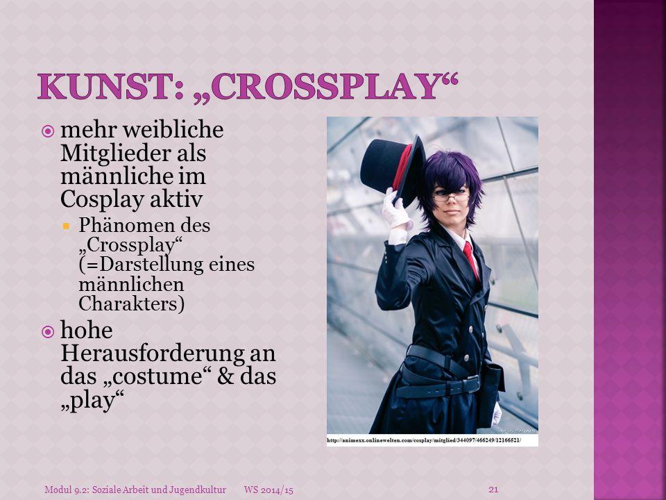"""Kunst: """"crossplay mehr weibliche Mitglieder als männliche im Cosplay aktiv."""