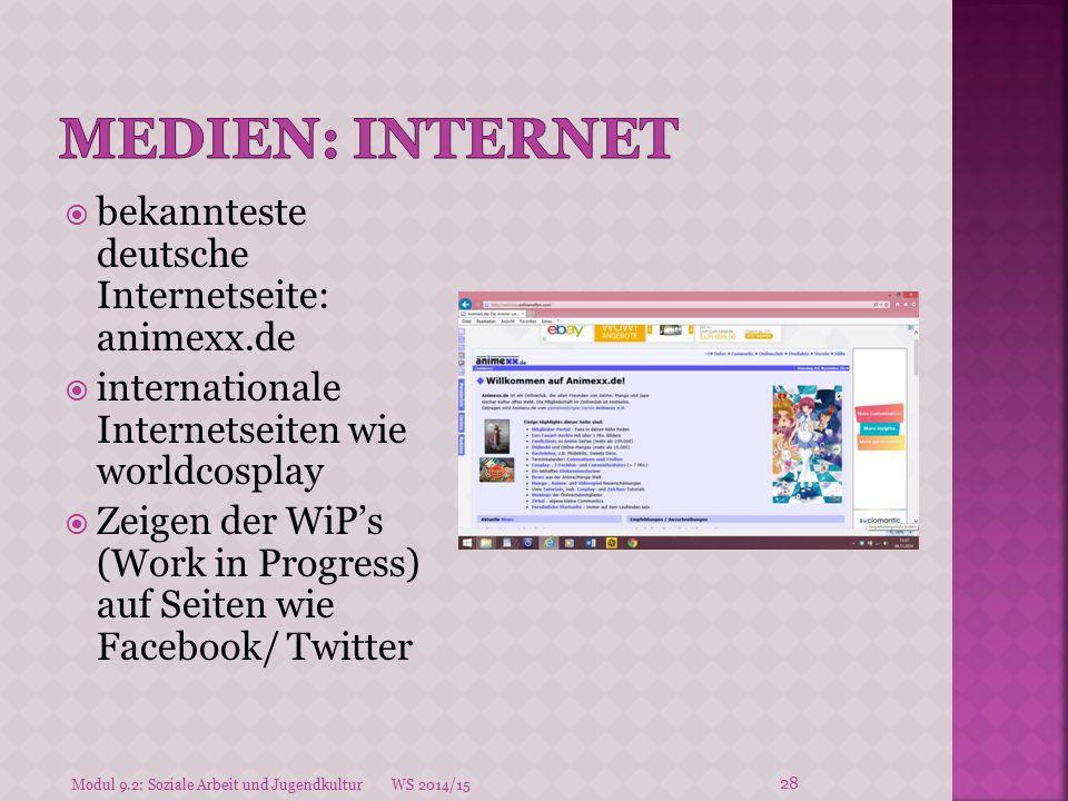 Medien: INternet bekannteste deutsche Internetseite: animexx.de