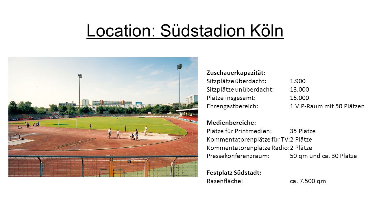 Location: Südstadion Köln