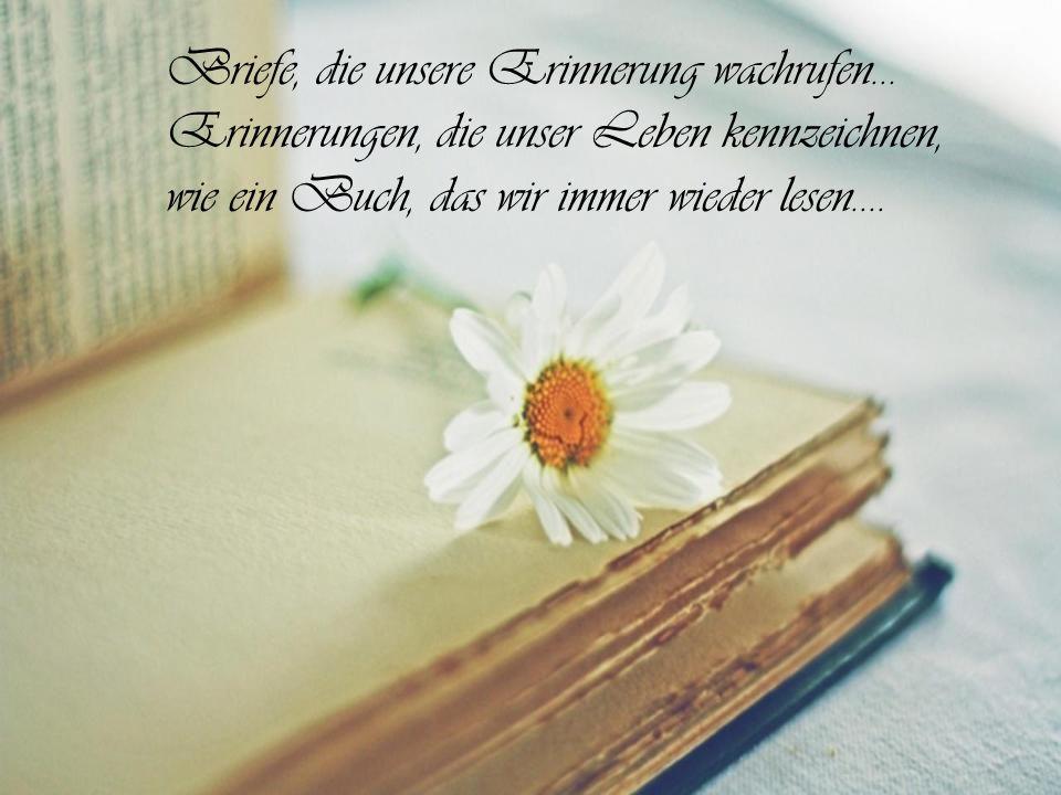 Briefe, die unsere Erinnerung wachrufen…