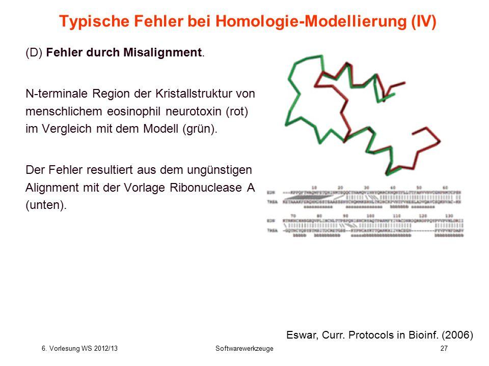 Typische Fehler bei Homologie-Modellierung (IV)