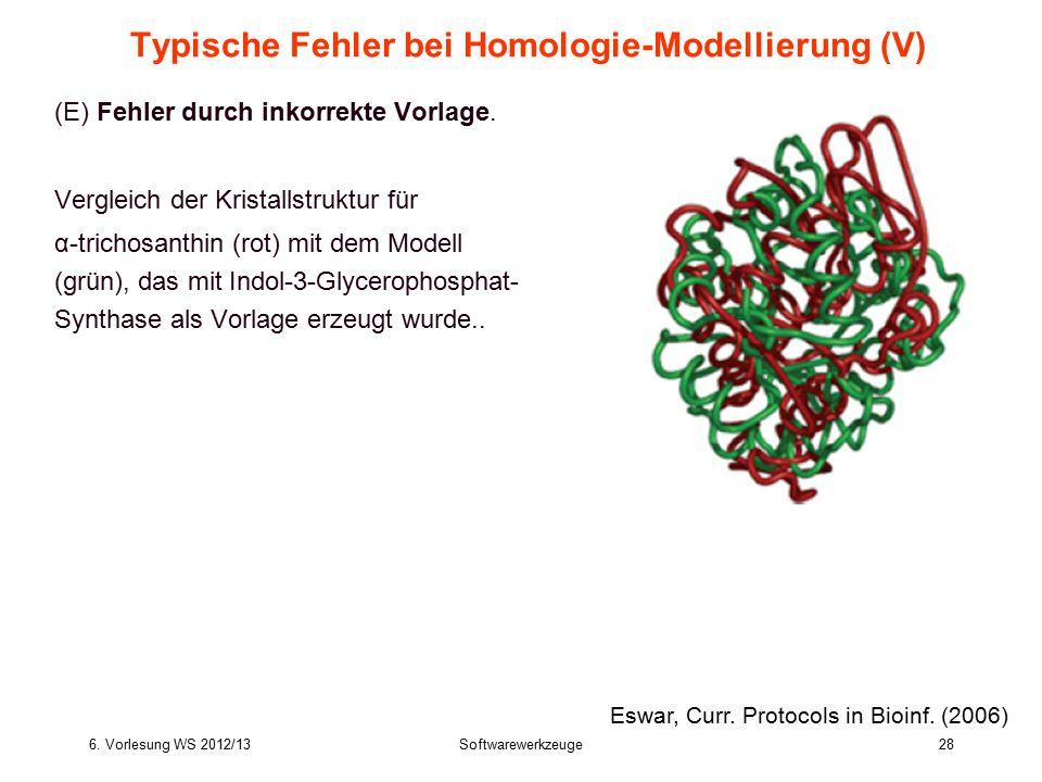 Typische Fehler bei Homologie-Modellierung (V)