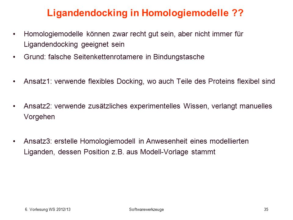 Ligandendocking in Homologiemodelle