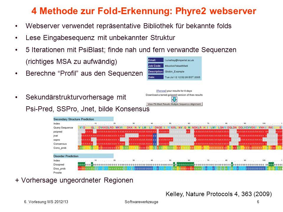 4 Methode zur Fold-Erkennung: Phyre2 webserver
