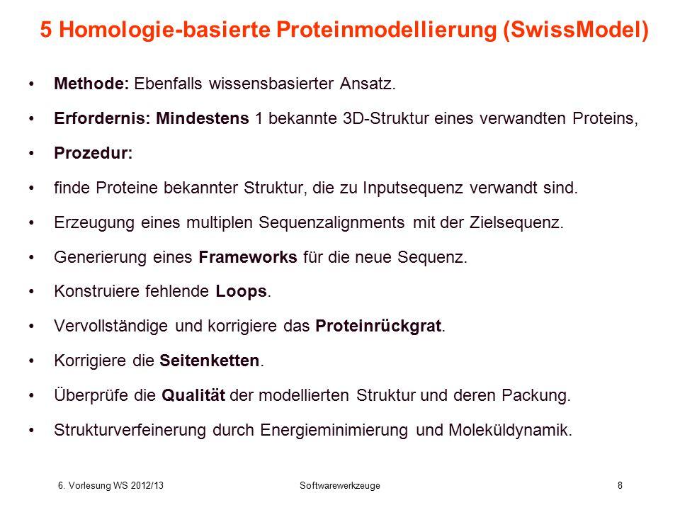 5 Homologie-basierte Proteinmodellierung (SwissModel)