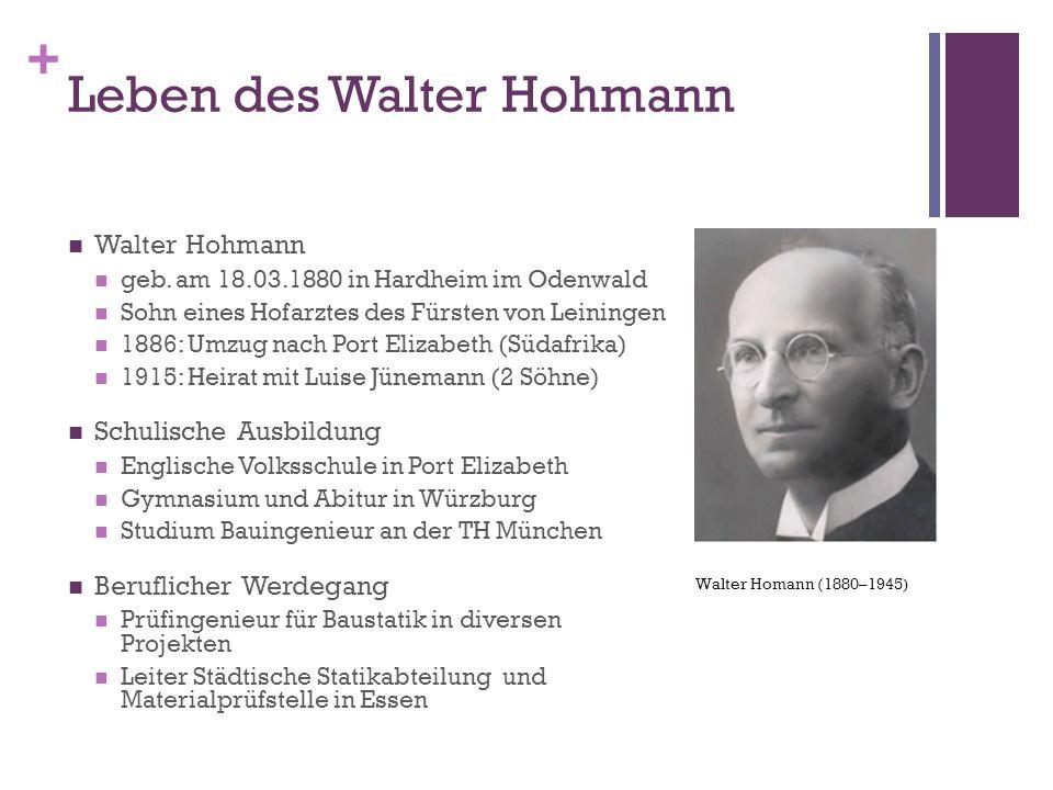 Leben des Walter Hohmann
