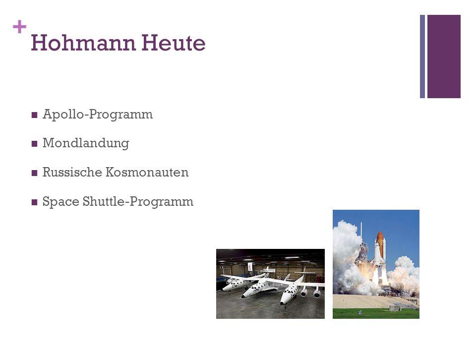 Hohmann Heute Apollo-Programm Mondlandung Russische Kosmonauten