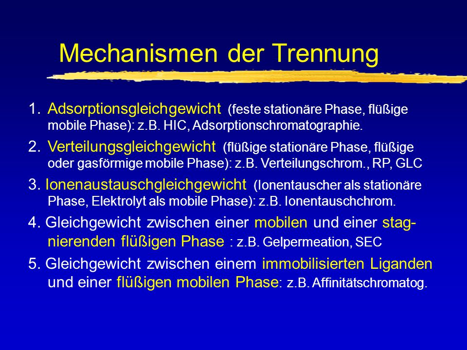 Mechanismen der Trennung