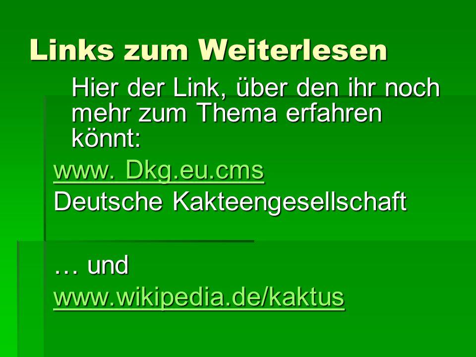 Links zum Weiterlesen Hier der Link, über den ihr noch mehr zum Thema erfahren könnt: www. Dkg.eu.cms.