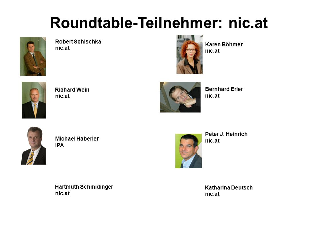 Roundtable-Teilnehmer: nic.at