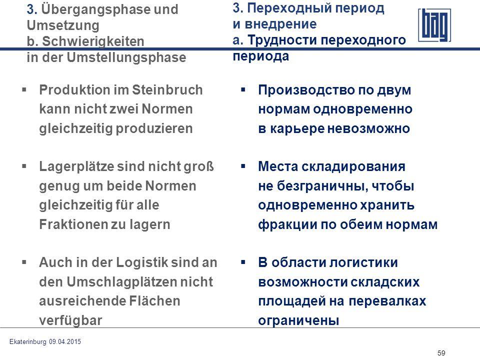 3. Переходный период и внедрение а. Трудности переходного периода