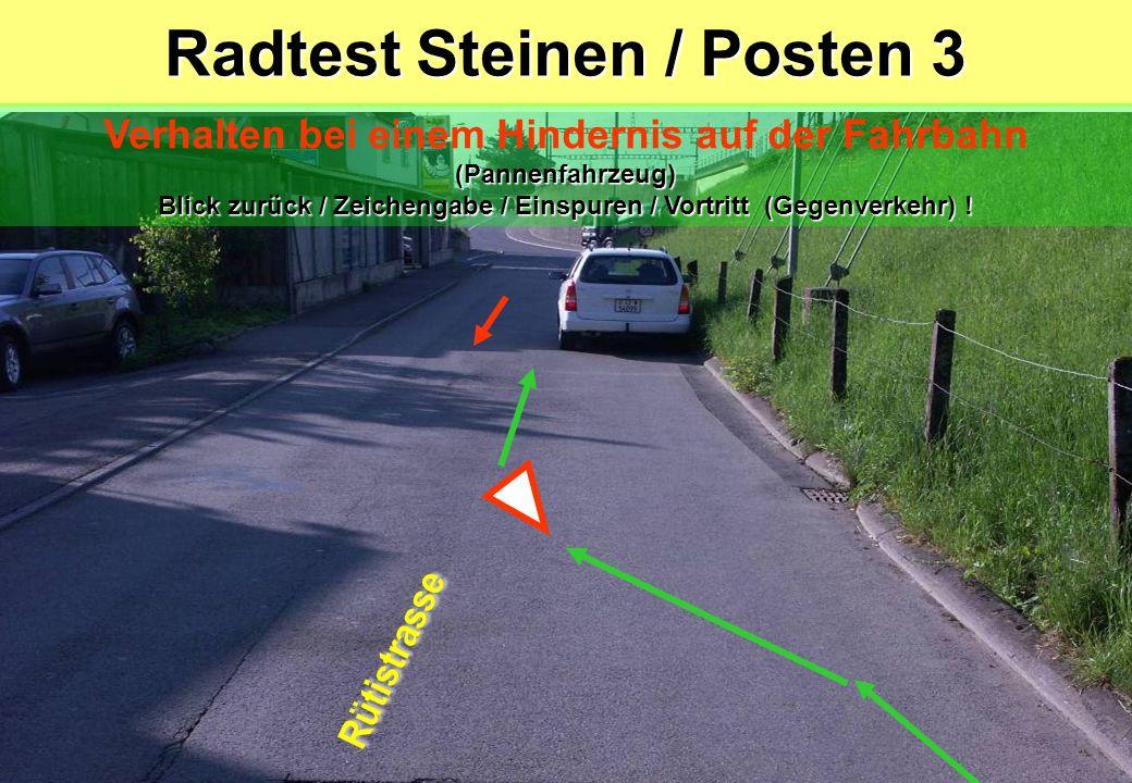 Radtest Steinen / Posten 3