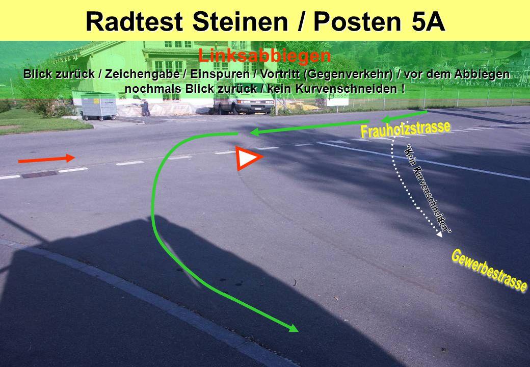 Radtest Steinen / Posten 5A
