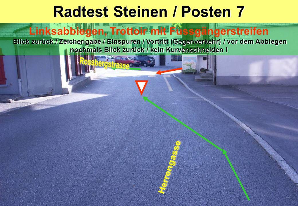Radtest Steinen / Posten 7