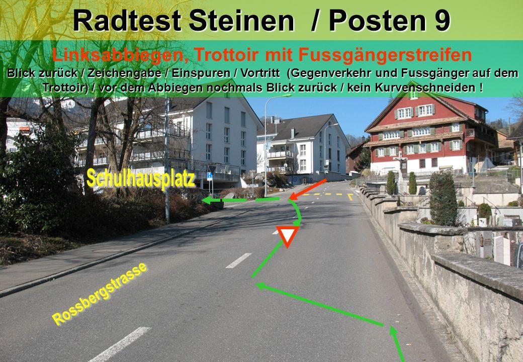 Radtest Steinen / Posten 9