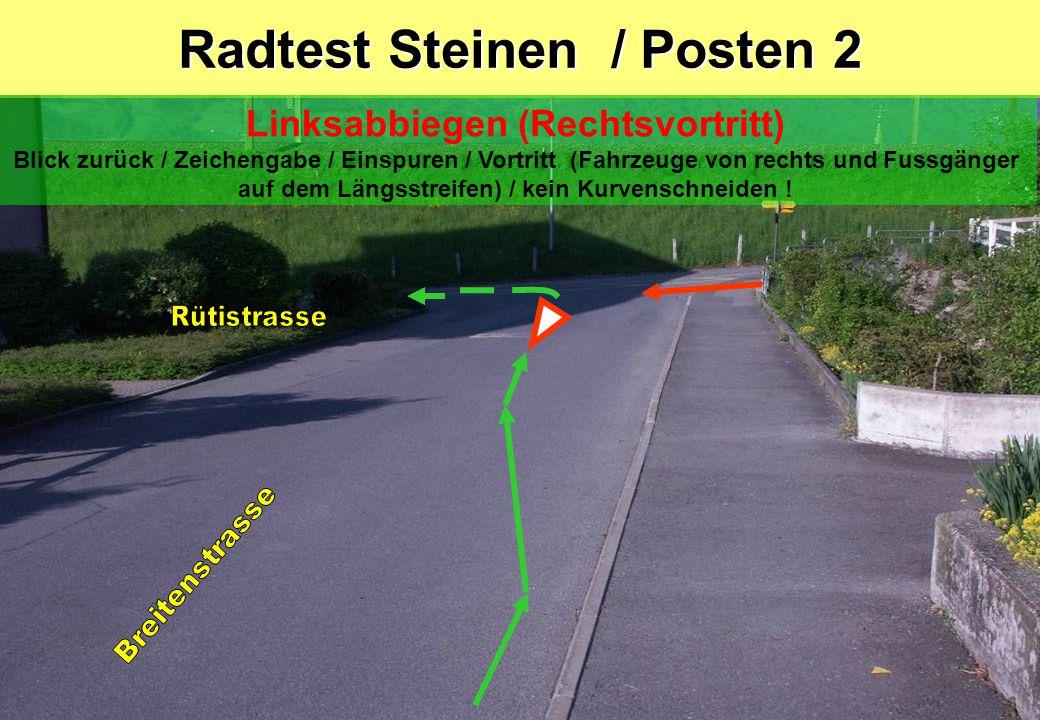 Radtest Steinen / Posten 2