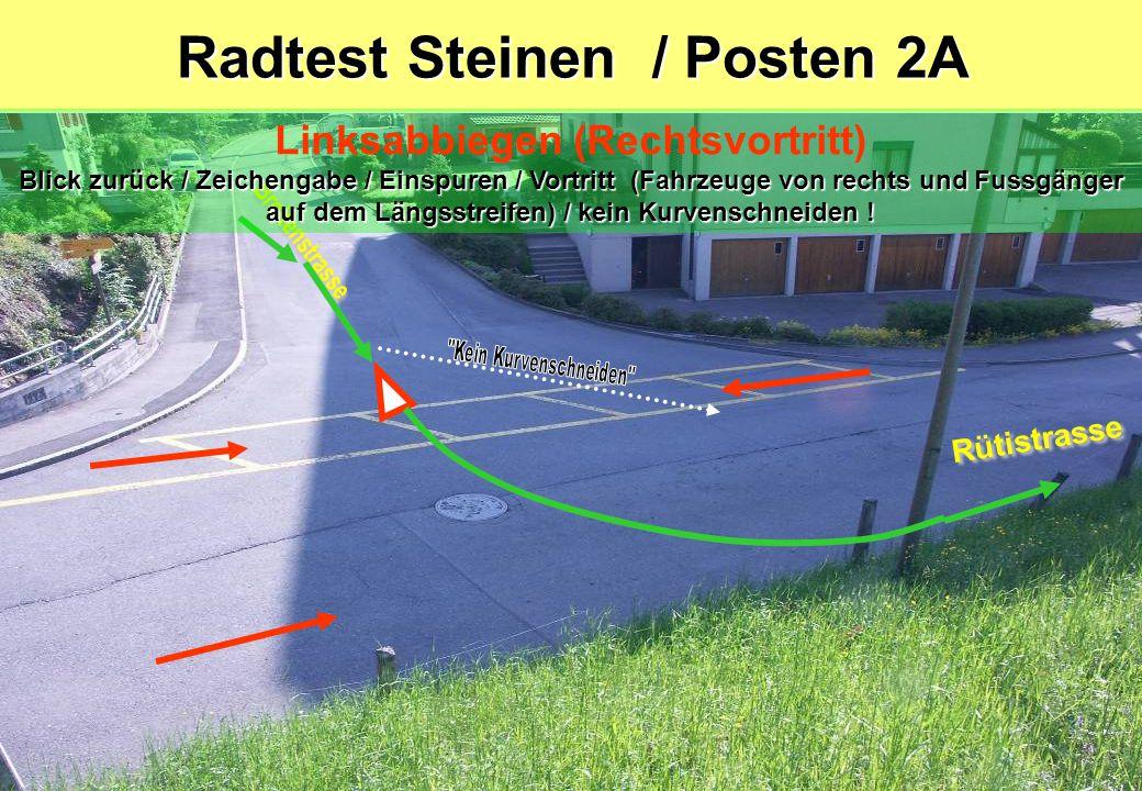 Radtest Steinen / Posten 2A