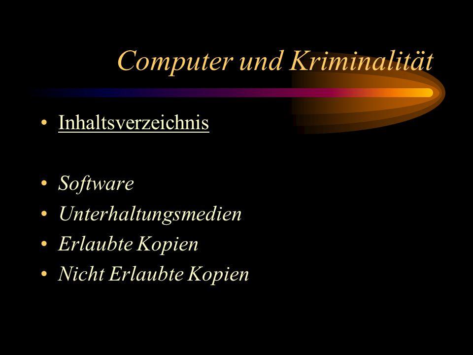 Computer und Kriminalität