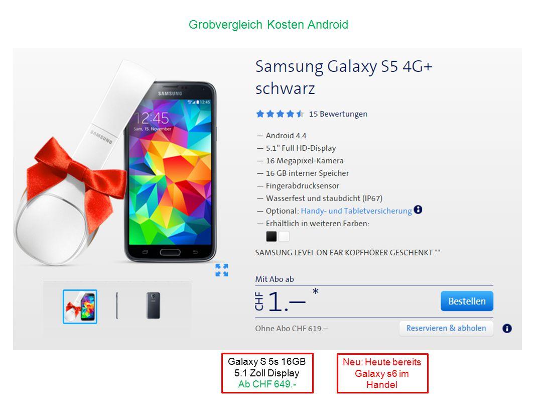 Neu: Heute bereits Galaxy s6 im Handel