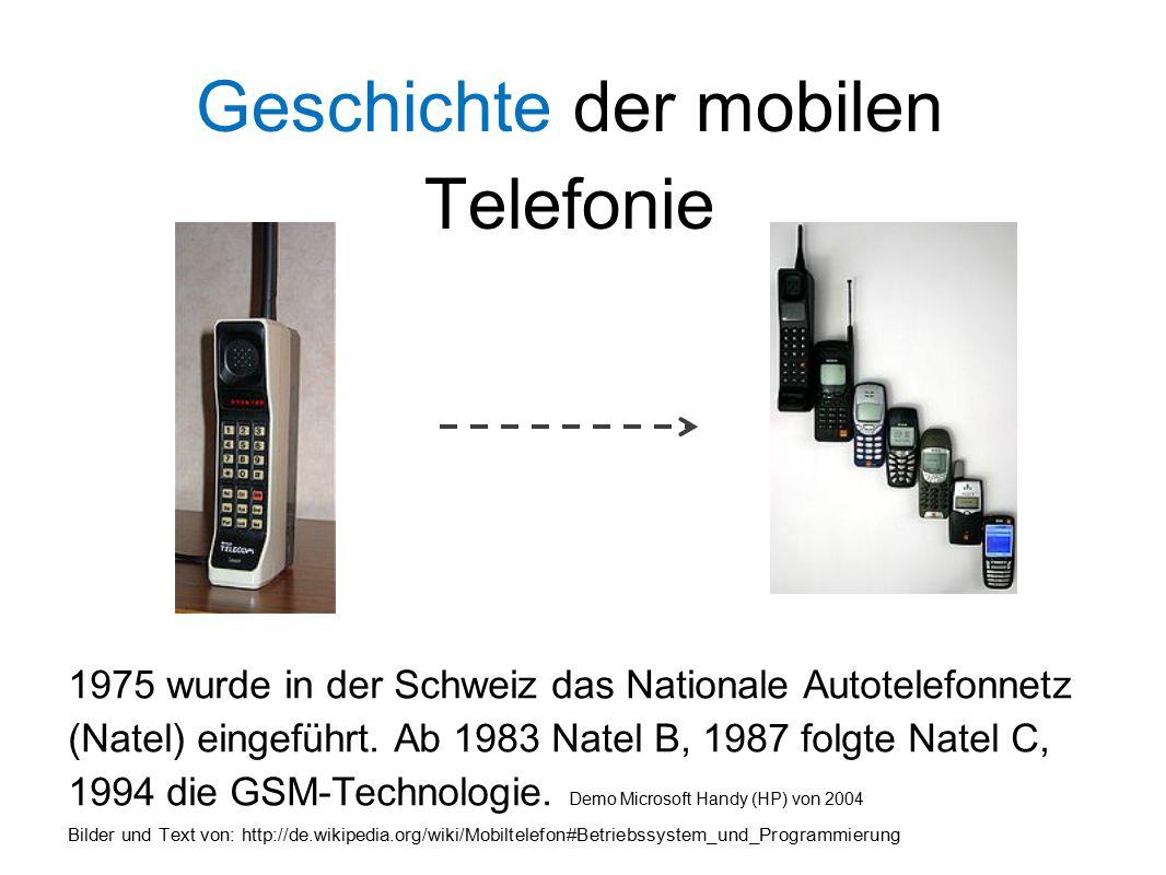 Geschichte der mobilen Telefonie