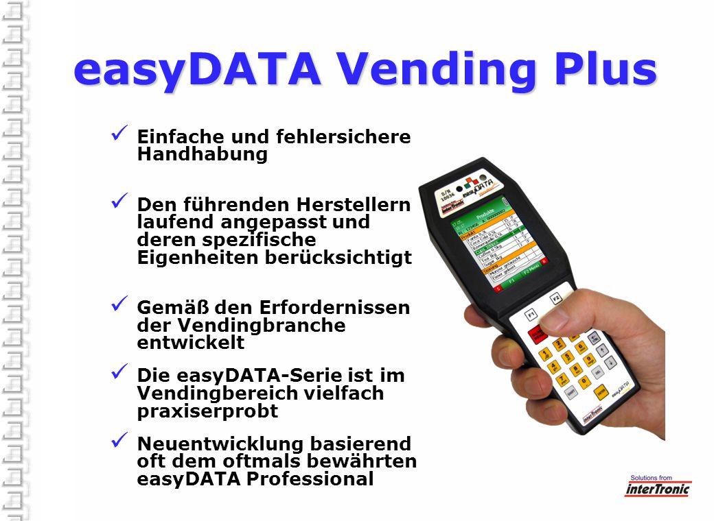 easyDATA Vending Plus Einfache und fehlersichere Handhabung