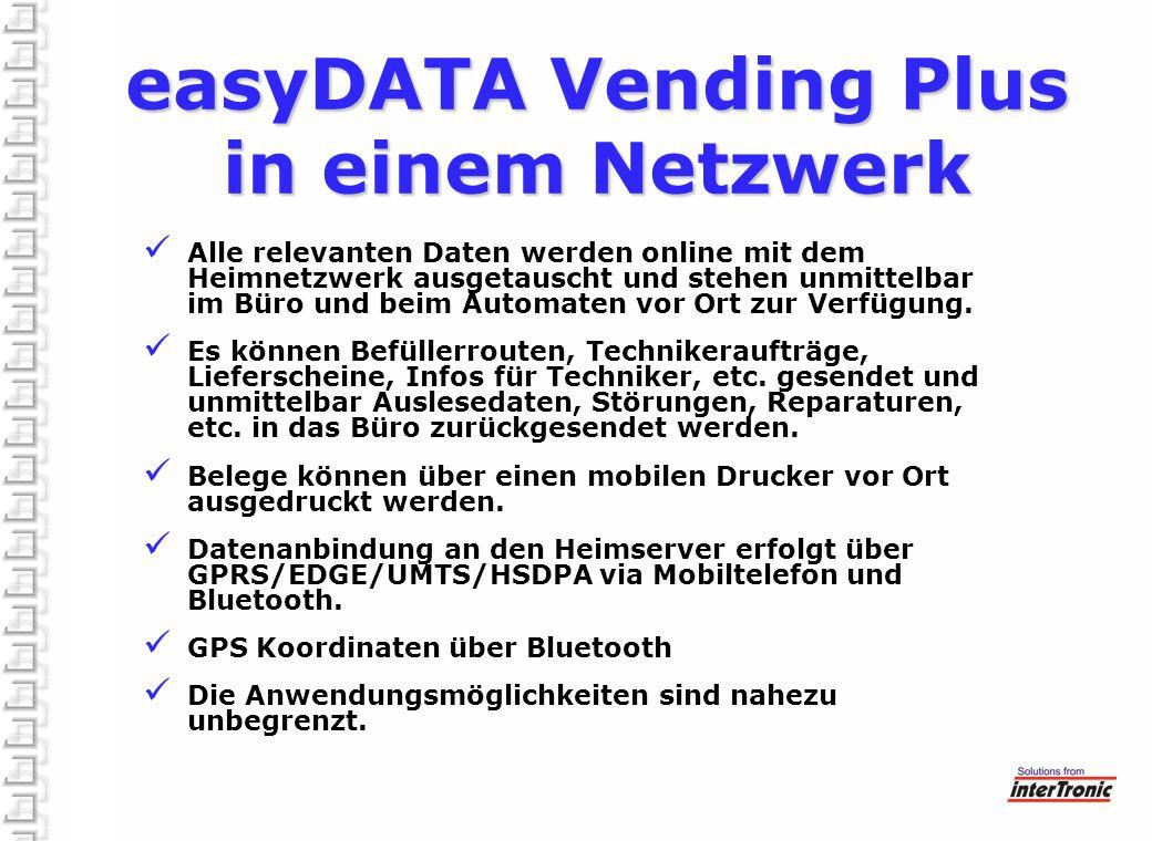 easyDATA Vending Plus in einem Netzwerk