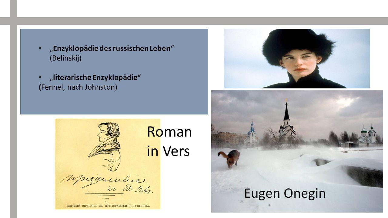 Roman in Vers Eugen Onegin