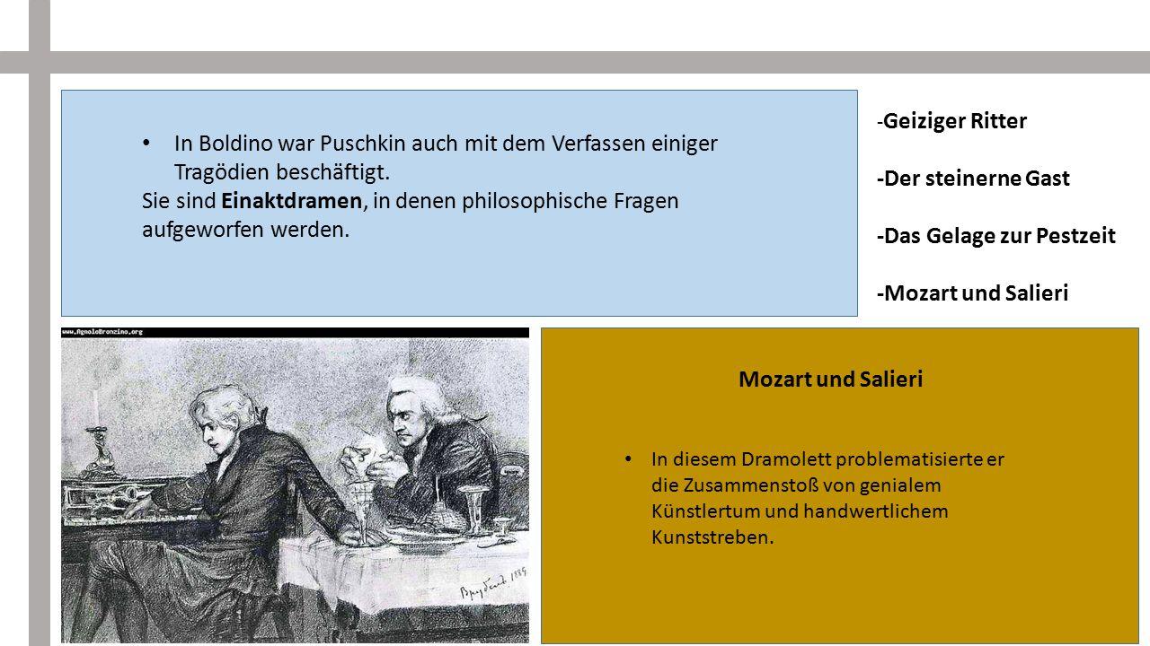 -Das Gelage zur Pestzeit -Mozart und Salieri