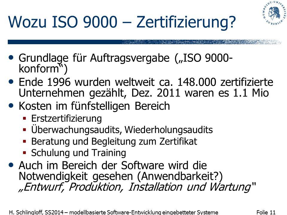 Wozu ISO 9000 – Zertifizierung