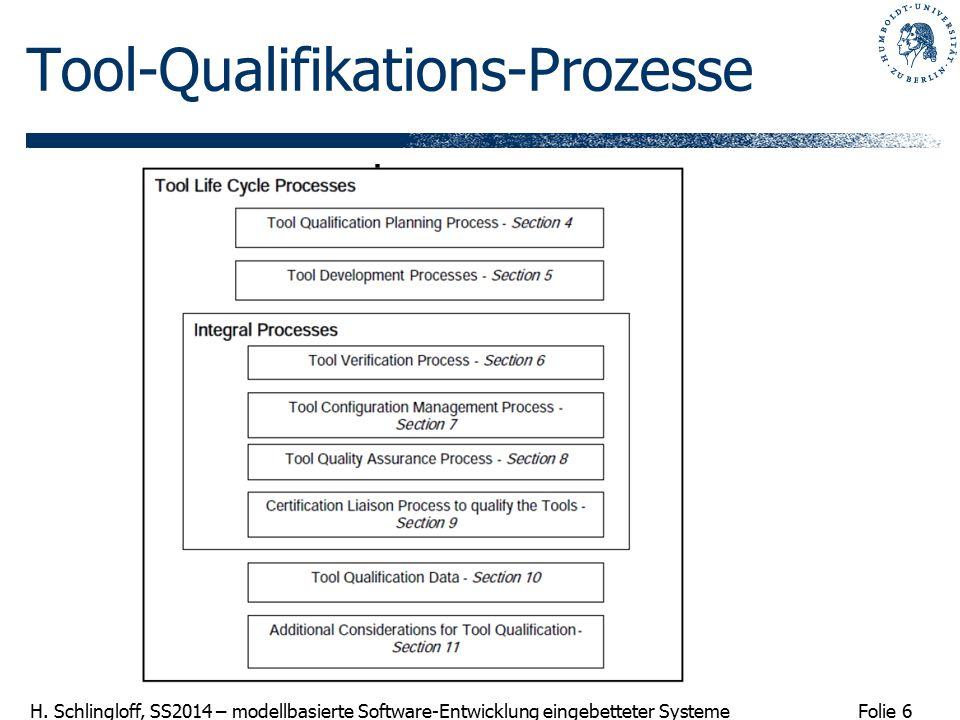 Tool-Qualifikations-Prozesse
