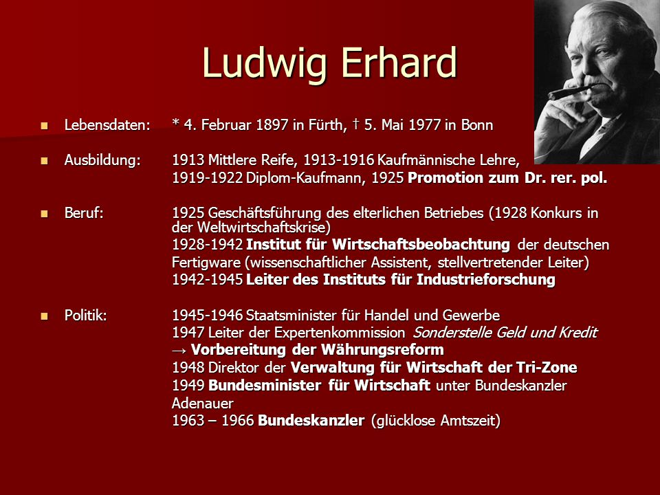 ludwig erhard und das wirtschaftswunder ppt video online. Black Bedroom Furniture Sets. Home Design Ideas