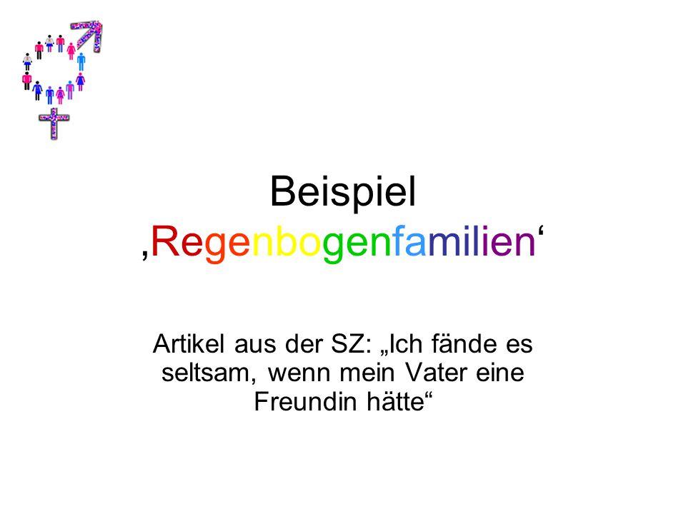 Beispiel 'Regenbogenfamilien'